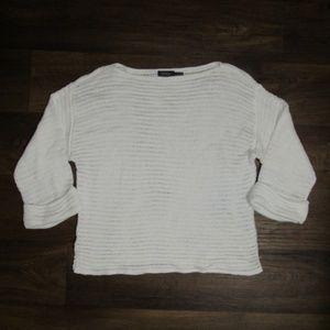 Polo Ralph Lauren Med White Knit Sweater Cotton
